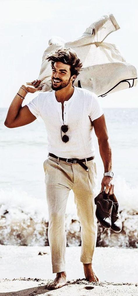 Beach Poses For Men