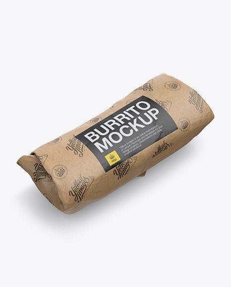 Download Kraft Burrito Wrapper Mockup Halfside View Food Packaging Mockup Psd Vector Jpg Format Download Mockup Free Psd Mockup Mockup Free Download