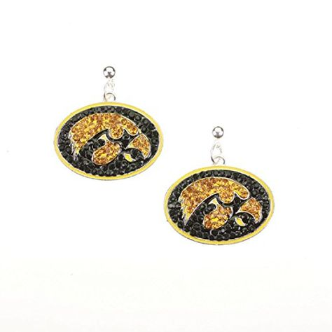 GREAT FOR MOTHER'S DAY & GRADUATION!  Iowa Hawkeyes Crystal Logo Earrings Sports Team Accessories https://www.amazon.com/dp/B071XRRY2Y/ref=cm_sw_r_pi_dp_x_J.kazb240C91Q