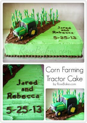 Corn Farming Tractor Cake Traktor Kuchen Schokokuchen Und