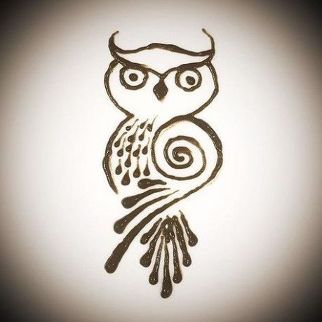 This Is How Owl Henna Tattoos Will Look Like In 7 Years Time Owl Henna Tattoos In 2020 Animal Henna Designs Cute Henna Henna Designs Hand