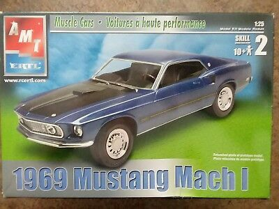 1969 Mustang Mach I Amt Mustang Car Model Model Kit