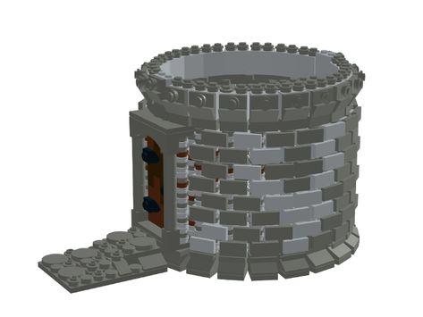 Lego Duplo Castle Black Brick Arch with Stonework Pattern