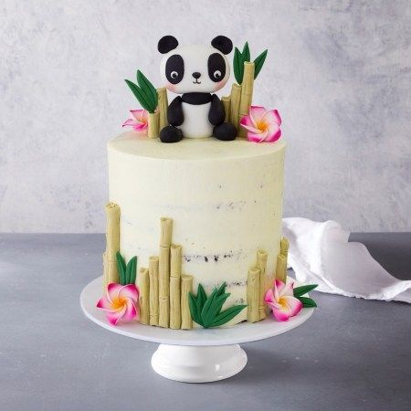 Tremendous Panda Birthday Cake Panda Birthday Cake Chocolate Banana Mousse Funny Birthday Cards Online Inifofree Goldxyz