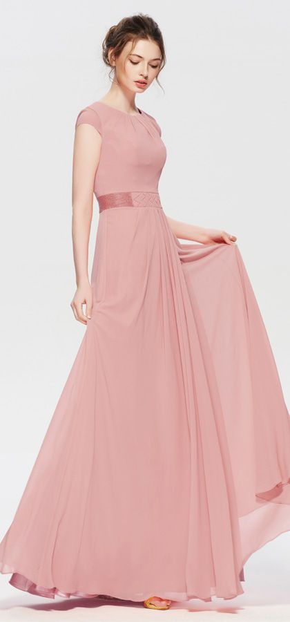 Modest Dusty Rose Mother Of The Bride Dresses Cap Sleeves Dusty Rose Dress Rose Bridesmaid Dresses Winter Bridesmaid Dresses
