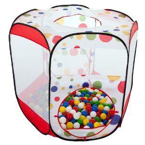 Sechseck Bällebad / pop-up-Zelt mit 150 Bällen: Amazon.de: Spielzeug