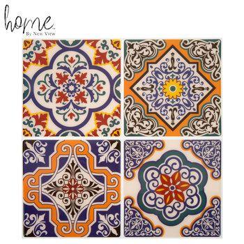 Orange Medallion Tile Adhesive Wall Art Hobby Lobby 1732908 In 2020 Adhesive Wall Art Wall Tiles Design Adhesive Tiles