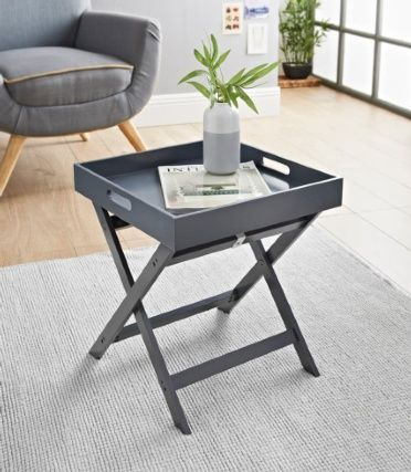Bjorn Folding Tray Table Grey Table Side Table Makeover