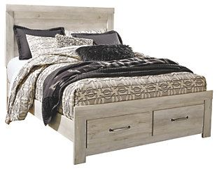 Bellaby Queen Platform Bed With 2 Storage Drawers With Images Platform Bed With Storage Queen Panel Beds Bed Storage
