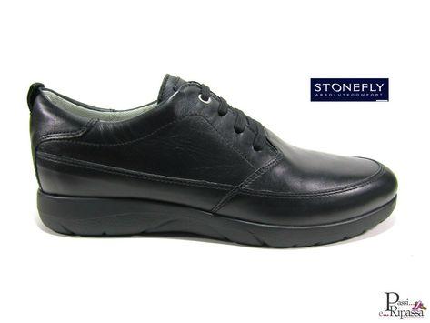 Scarpe da uomo stringare Stonefly classiche casual in pelle
