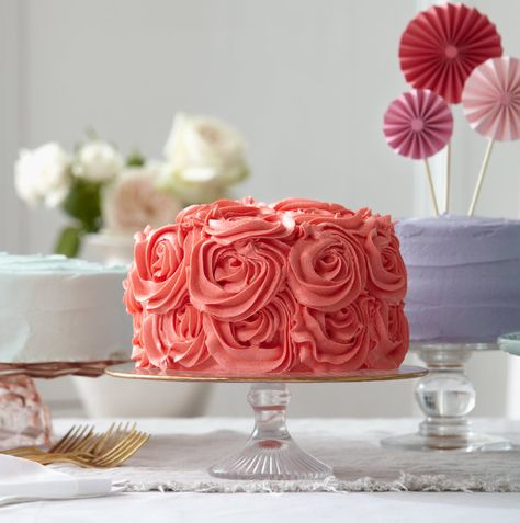 Cherry cake with marzipan roses recipe - Chatelaine.com