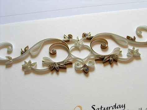 Quilled Anniversary Certificate - Detail | Flickr - Photo Sharing!