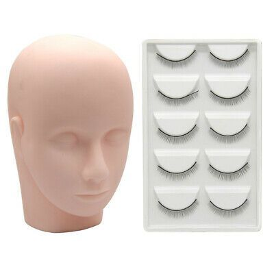 Advertisement Mannequin Head Practice Makeup Massage Training Model 10 Pair La In 2020 Eyelash Extension Kits Eyelash Extensions Eyelashes