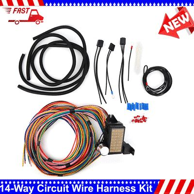 14 Way Circuit Wire Harness 14 Fuse Wiring Complete Kit For Car Truck Universal In 2020 Cars Trucks Harness Car