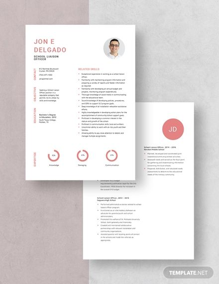School Liaison Officer Resume Template In 2020 Resume Template Resume Templates