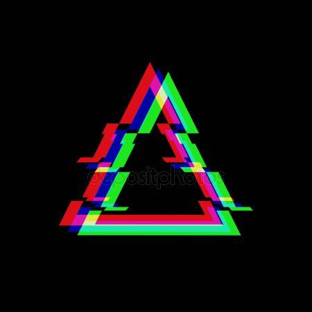 Vector Symbol Of Triangle In Glitch Style Geometric Glitched Icon Isolated On B Sponsored Triangle Glitch Vector Glitch Wallpaper Glitch Glitch Art