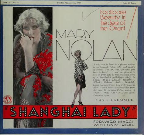 Shanghai lady Mary Nolan vintage movie poster print