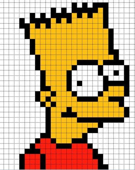 Spreadsheet Pixel Art Simpsons