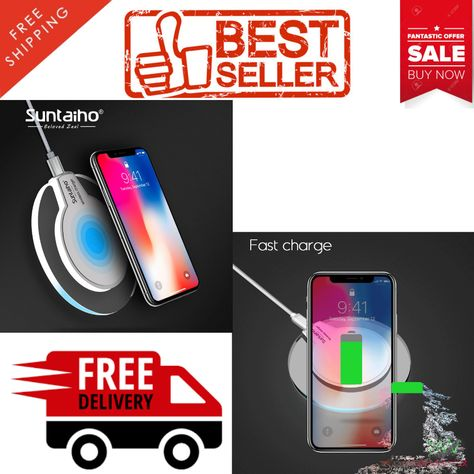 Wireless Charger Qi for Samsung Galaxy S6 7 8 iPhone 8 X
