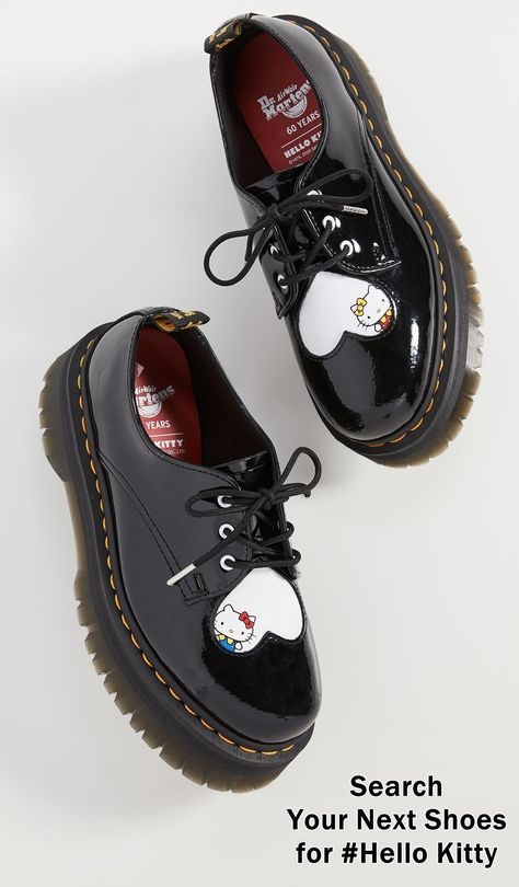 Martens & Hello Kitty Celebrate 60 Years With Joint Capsule Collection Aesthetic Shoes, Aesthetic Clothes, Sneakers Mode, Sneakers Fashion, Bobbies Shoes, Dr. Martens, Funky Shoes, Hello Kitty Collection, Hype Shoes