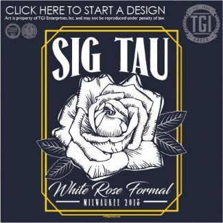 Sigma Tau Gamma Stg Formal White Rose Pr Tgi Greek Greek Apparel Custom Apparel Fraternity Tee Shirts Sigma Tau Gamma Tau Gamma Fraternity Tee