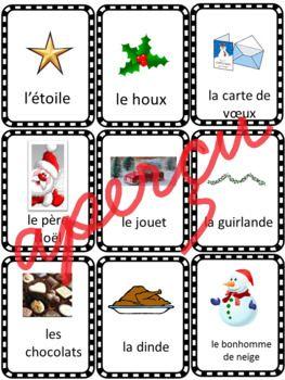 Jeu de mémoire   Vocabulaire de Noël | French kids, Teaching
