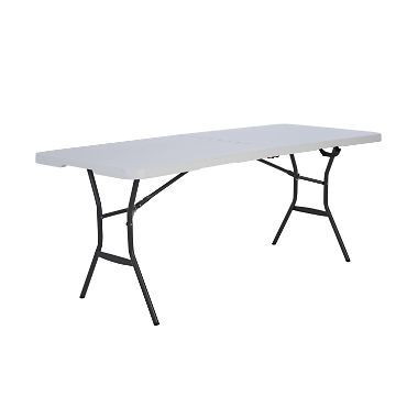 Lifetime 6 Fold In Half Light Commercial Grade Table White Granite Folding Table Half Table