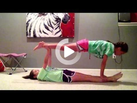 Easy Stunts For Beginners 2 And 3 People Partner Yoga Poses Stunts Yoga Poses For Two