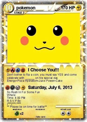 Pokemon Card Birthday Invitation Luxury My Pokemon Birthday Invitation Pokemon Birthday Invites Pokemon Birthday Party Pokemon Invitations