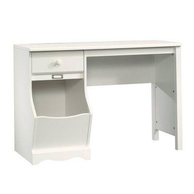 Pogo Desk With Easy Glide Drawer And Storage Bin Soft White