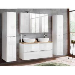 Aufsatzwaschbecken Badmobel Doppelwaschtisch Hochgl Inkl Mit Set Toskana56 Badmobel Set Mit Doppel In 2020 Aufsatzwaschbecken Waschtisch Holzplatte Waschtisch