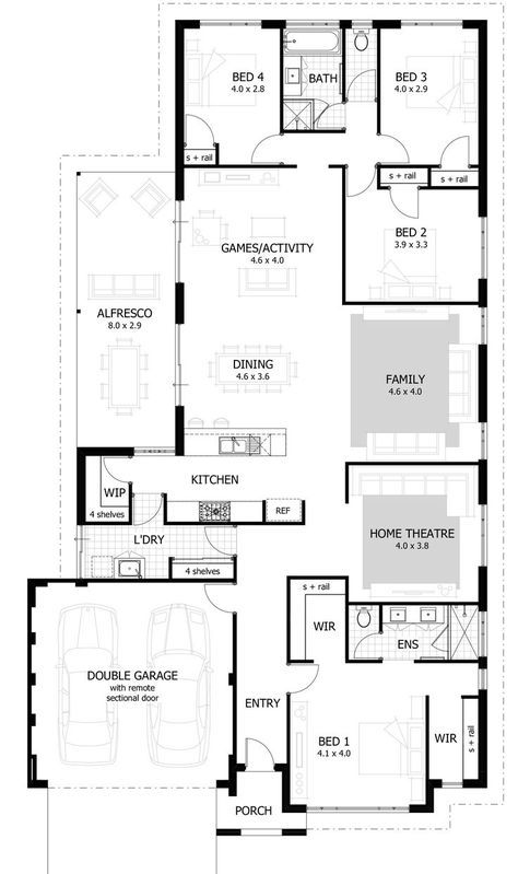 Find A 4 Bedroom Home That S Right For You From Our Current Range Of Home Designs And Plans House Plans South Africa 4 Bedroom House Plans Bedroom House Plans