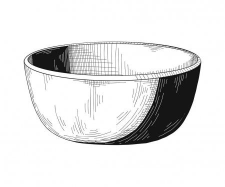 Sketch Bowl Bowl Isolated White Background Vector Stock Vector Sponsored Isolated Bowl Sketch White Ad Vintage Drawing White Background Bowl