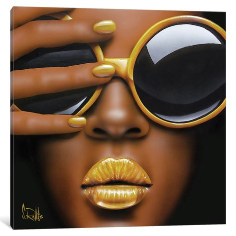 "iCanvas Goldilips by Scott Rohlfs Canvas Print (Depth 1.5 - Size 26"" x 26"")"