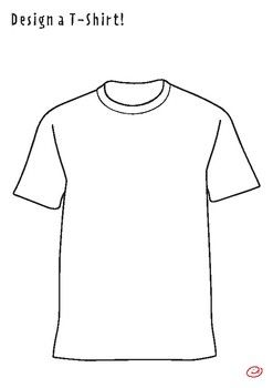 T Shirt Coloring Page And Drawing Activity By Silly Billy Kids Tpt Drawing Activities Coloring Pages Design Your Own Shirt