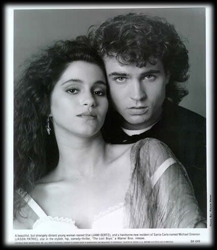 Jamie Gertz & Jason Patric from the Lost Boys...  I miss big 80s