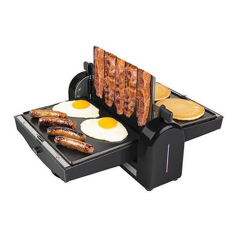 Homecraft Nonstick Electric Bacon Press Griddle In Black In 2020