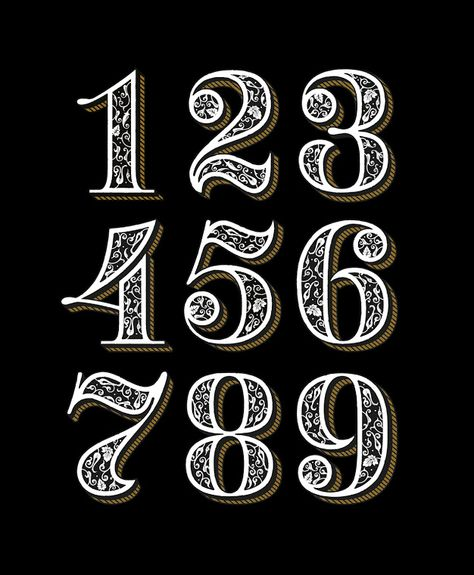 52 Trendy Ideas For Tattoo Fonts Typography Graphic Design Number Tattoo Fonts, Tattoo Fonts Alphabet, Number Tattoos, Number Fonts, Tattoo Lettering Fonts, Typography Letters, Graphic Design Typography, Number Typography, Number Caligraphy