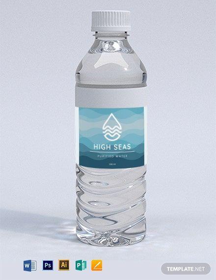 Water Bottle Label Template Word Doc Psd Apple Mac Pages Google Docs Illustrator Publisher Water Bottle Labels Template Bottle Label Template Printable Water Bottle Labels