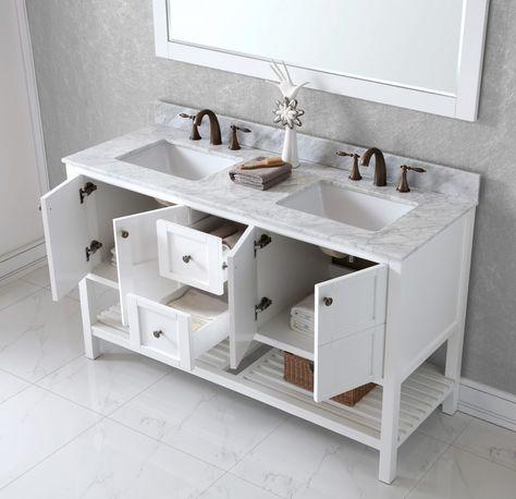 Bathrooms Design Wmsq Wh Inch Bathroom Vanity Single Sink Cabinet