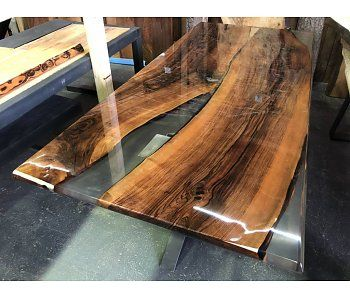 Mixed Wood Tafelblad.Epoxy Tafel Kopen Trendy Tafel Balkenblad Te Vinden Onder