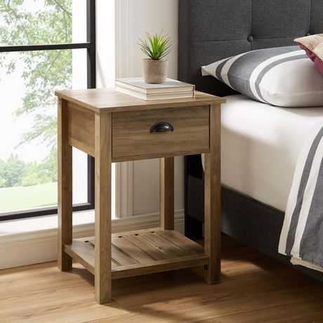 Manor Park Country Farmhouse Side Table And Nightstand With Storage Drawer Reclaimed Barnwood R Reclaimed Barn Wood Farmhouse Side Table Farmhouse End Tables