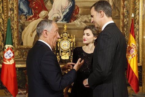 Foro Hispanico de Opiniones sobre la Realeza: Los reyes Felipe y Letizia reciben a Marcelo Rebelo de Sousa, Presidente de Portugal. Palacio Real de Madrid, 17.03.2016