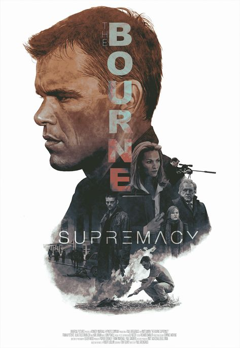 The Bourne Supremacy by Hans. - Home of the Alternative Movie Poster -AMP-