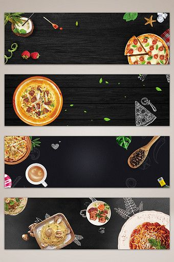 Western Food Pizza E-commerce Taobao Banner Background Map   Backgrounds  PSD Free Download - Pikbest   Food Banner, Western Food, Banner Background  Images