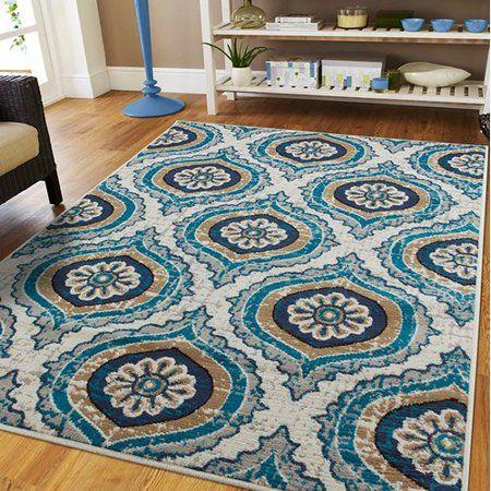 Buy Ebern Designs Gottesdiener Ivory Blue Indoor Outdoor Area Rug