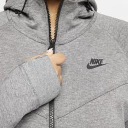 Nike Grosse Grossen Sportswear Tech Fleece Damen Hoodie Mit Durchgehendem Reissverschluss Grau Nike Graue Nikes Nike Damen
