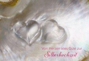 Gluckwunschkarte Von Herzen Alles Gute Zur Silberhochzeit Silberhochzeit Silberhochzeit Geschenk Hochzeit