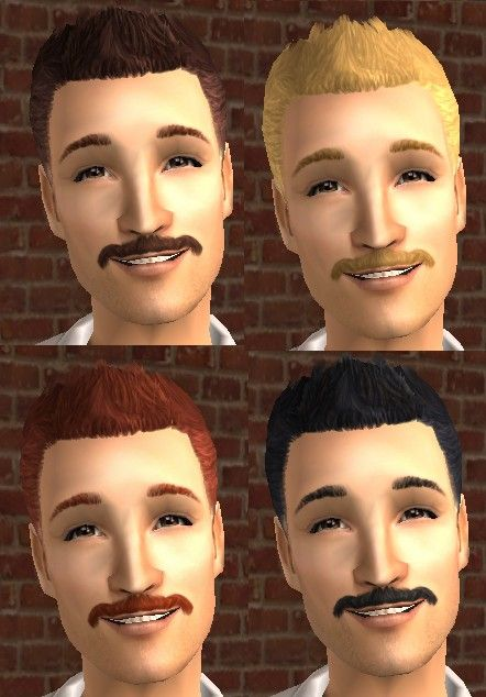 Mod The Sims Manly Hair Two Maxis Match Hairstyles For