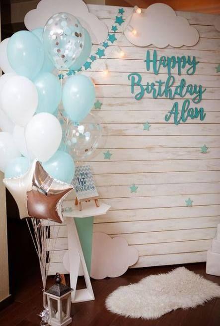 Birthday Decorations Diy 1st Boy 53 Ideas In 2020 Boy Birthday Decorations Diy Birthday Decorations First Birthday Decorations